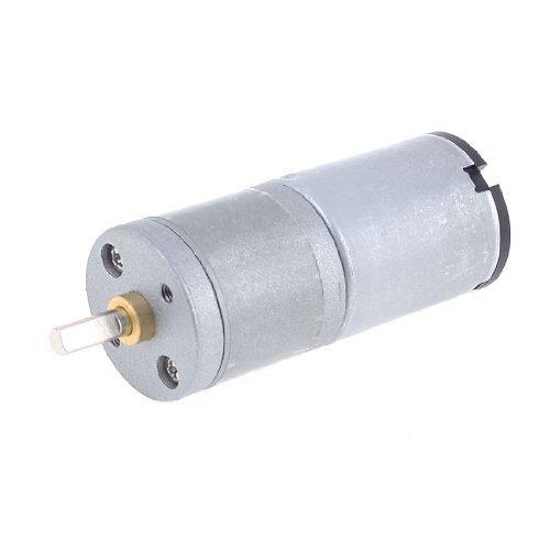eDealMax 12V de 4 mm Velocidad de salida 45 RPM Diámetro del eje CC Caja de cambios motorreductor - - Amazon.com