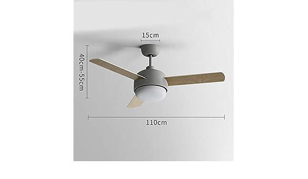 URBBR Ventilador de techo creativo luz de techo invisible lámpara ...