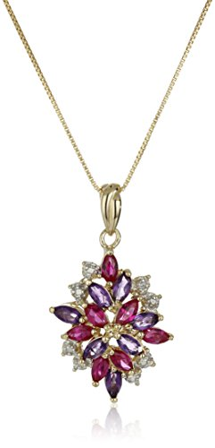 Gold Plated Sterling Gemstone Pendant Necklace