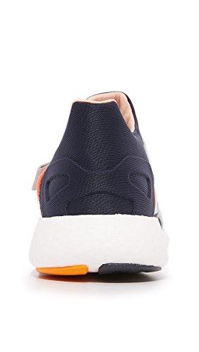 Adidas By Stella Mccartney Womens Pureboost Sneakers Night Navy / Solar Orange / Gold