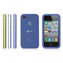 Macally TribandB-P4 Étui en silicone pour iPhone 4 Navy