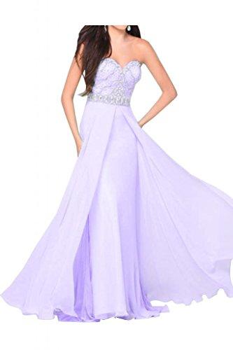 En forma de corazón de la Toscana de novia vestidos de Gasa de noche encantador a largo vestido de bola vestidos de fiesta morado
