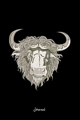 Journal: Dot Grid Journal - Angry Bull Face Cool Easy Animal Gift - Black Dotted Diary, Planner, Gratitude, Writing, Travel, Goal, Bullet Notebook
