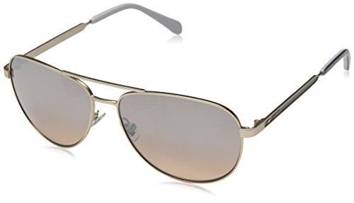 Fossil Women's Fos 3065/s Aviator Sunglasses, MATTEGOLD, 58 mm
