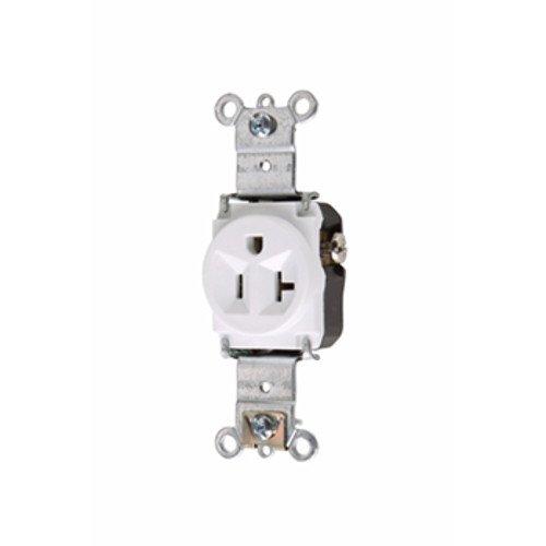 Legrand-Pass & Seymour 5361W Pass & Seymour 5361-W 20A 125V 5-15R Single Receptacle, White