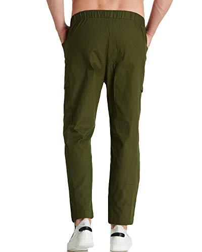 Armée pour hommes Chino de pyjama 2 Léger de Modchok plage Pantalon Vert Pantalon décontracté Slim Pantalon Casual Pantalon 7gbfYy6