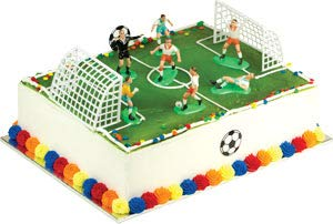 Cake Decorating Kit CupCake Decorating Kit Sports Toys (Soccer Match Kit) -