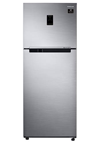 Samsung 394 L 2 Star Inverter Frost Free Double Door Refrigerator  RT39A5518S9/TL, Refined Inox, Convertible