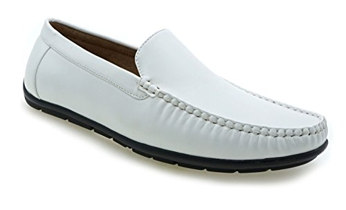 Aldo Rossini Heren Steve-1 Instappers Loafer Schoenen Wit
