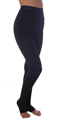 CzSalus Lipedema Lymphedema, POTS Support high Compression Leggins (K2=25-30 mmHg) – (Black, 2XL)