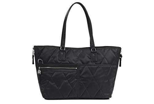 Danzo Diaper Bags Lexington, Black with Orchid Interior Lexington Diaper Bag