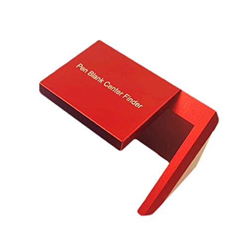 ErYao 45 Degree Angle Marker Woodworking Right Angle Marker, Woodworking Pen Center Finder,Aluminium Alloy Woodworking Marking Center Finder Tool (Red)