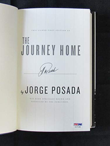 Jorge Posada Signed Auto Autograph The Journey Home Hardcover Book PSA/DNA Z17198