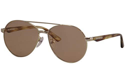Balenciaga BB0019SK Sunglasses 003 Gold-Havana/Brown Lens 59 mm