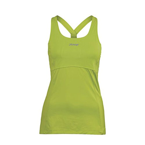 ZOOT SPORTS Women's Run Moonlight Racerback, X-Small, Spring Green