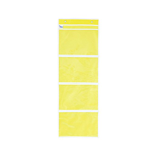 File Four Oxford Drawer (B Blesiya Wall File Organizer Office Folder Hanging Holder Letter Mount Storage Pocket - Yellow 4 Slots)