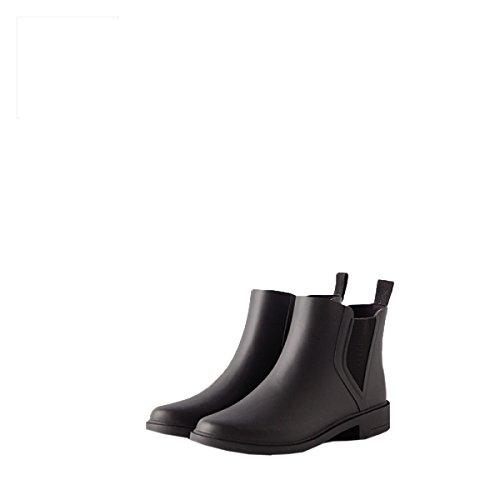 HOFFNUNG Männer Frauen Regen Stiefel Wasser Schuhe Wasserdicht Anti-Schlamm Vier Jahreszeiten Anti-Rutsch Resistent Zu Tragen Weich,B-c B