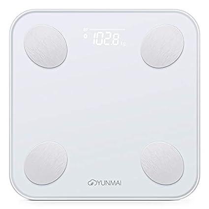 Yunmai Balance - Báscula de Baño Digital con App, Pantalla LED Oculta, Funciona con