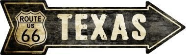 Smart Blonde Outdoor Decor Vintage Route 66 Texas Novelty Metal Arrow Sign A-129 ()