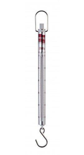 Pesola Medio-Line Spring Scale, 2,500g x 20g, w/Hook End