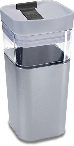 Kafe in the Box, Splashproof and Ecofriendly Reusable Coffee Mug/Travel Mug by Precidio Design - 12 oz, Silver