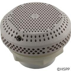 Waterway Plastics 806105379337 Suction Assembly W/hex Nut Wall White Fitting