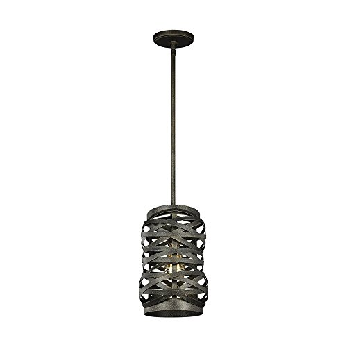 Sea Gull Lighting 6128601-802 One Light Mini-Pendant Obsidian Mist