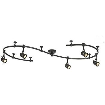 progress lighting p6227 09 6 feet of flex track with 3 support stems