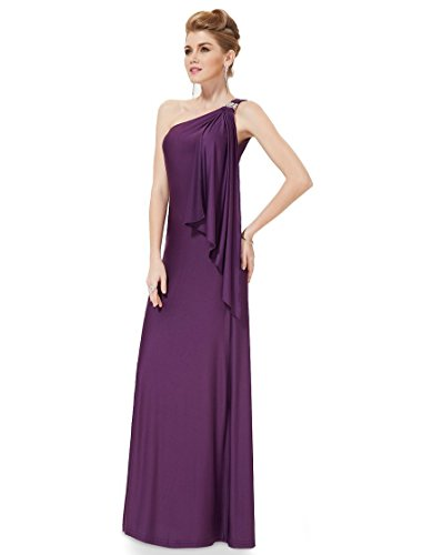 Prom La elegante vestido MEI Noche amp;S Larga Maxi fiesta morado vestido mujer de fRw4tBx5q