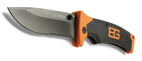 Gerber Bear Grylls Folding Sheath Knife, Serrated Edge [31-000752] by Gerber
