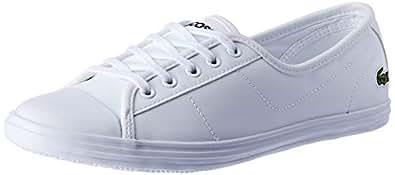Lacoste Women's Ziane BL 1 Women's Fashion Shoes, White, 7 US