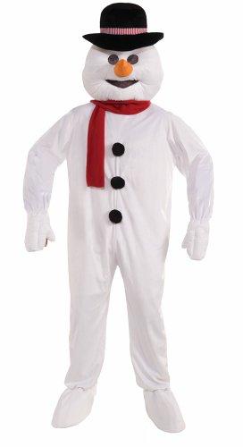 Forum Novelties Men's Plush Snowman Mascot Costume, White, One (Frosty The Snowman Costumes)