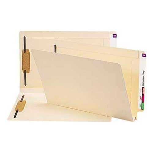 - Smead Heavy W-Fold Expansion Folders, Two Fasteners, End Tab, Legal, Manila, 50/Box