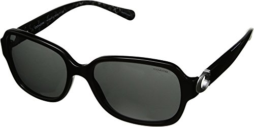 Coach Womens Sunglasses Black/Grey Acetate - Non-Polarized - 57mm by Coach