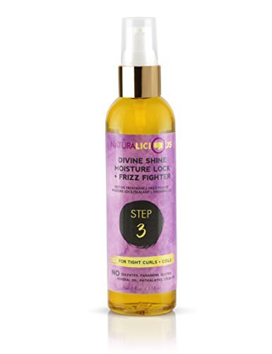Naturalicious Divine Shine Moisture Lock & Frizz Fighter (For Tight Curls + Coils)