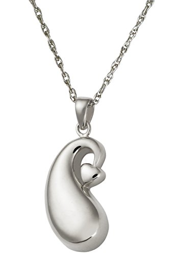 Cremation Memorial Jewelry: Sterling Silver Infinite Tear of Love + Text Engraving -