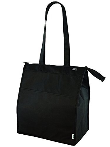 Insulated zippered Hot & Cold Cooler Tote - Large , Black