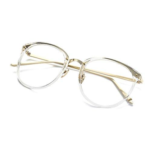 fea63d6efbb Amomoma Fashion Round Eyewear Frame Eyeglasses Optical Frame Clear ...