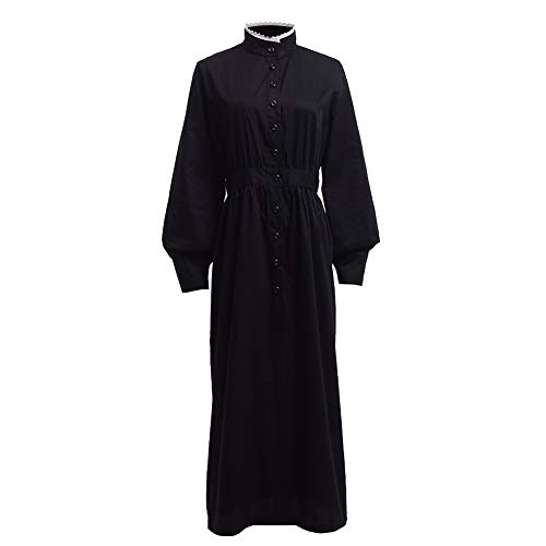 GRACEART Pioneer Women Costume Prairie Dress Black (Pure Cotton) XX-Large ()
