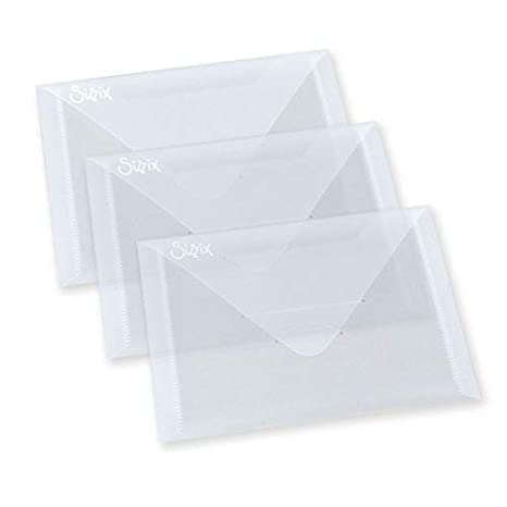 Sizzix Plastic Envelopes 6.875 by 5-Inch 3//Pack