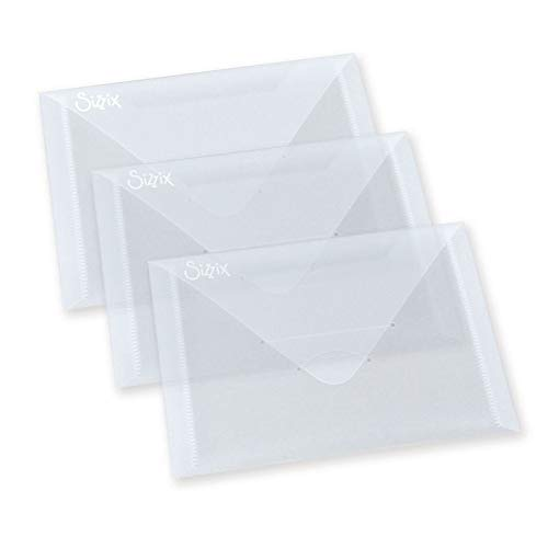 Sizzix Plastic Envelopes, 6.875 by 5-Inch, 3/Pack