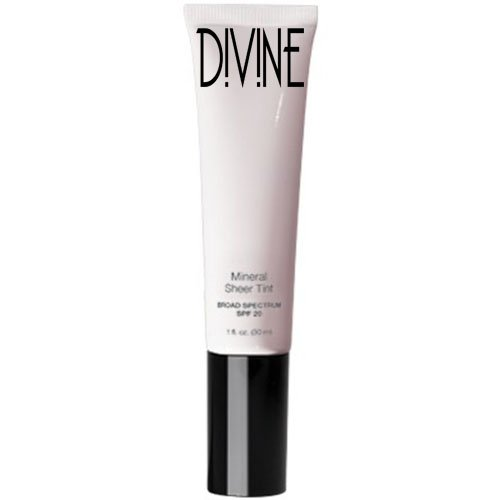 Divine Skin & Cosmetics - Light Weight, Full Coverage Mineral Sheer Tint Foundation with Spf20 - Honey (Divine Honey)