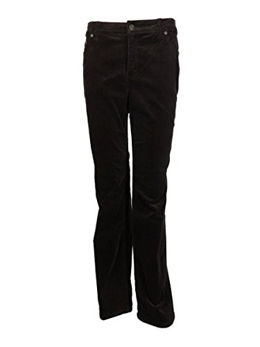 Marilyn Straight Leg Corduroy (Charter Club Womens Plus Tummy Slimming Classic-Fit Corduroy Pants Brown 24W)