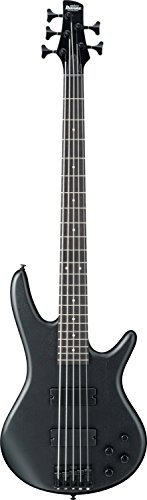 String 5 Maple Guitar Bass (Ibanez 5 String Bass Guitar, Right Handed, Weathered Black (GSR205BWK))