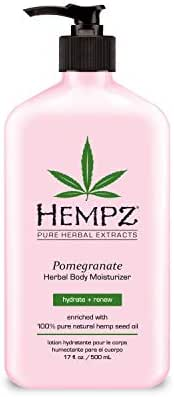 Hempz Pomegranate Herbal Body Moisturizer 17 oz. - Paraben-Free Lotion and Moisturizing Cream for All Skin Types, Anti-Aging Hemp Skin Care Products for Women and Men - Hydrating Gluten-Free Lotions