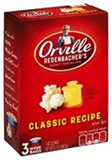 product image for ORVILLE REDENBACHER'S POPCORN CLASSIC BUTTER 3 BAGS PER BOX
