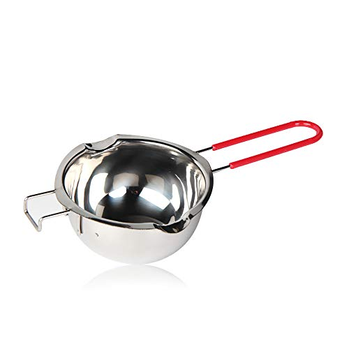 - Chocolate Melting Pot, Stainless Steel Double Boiler Insert Baking Tools 480ml Quality Assurance Never Rust Homemade Mask,Melted Butter Chocolate