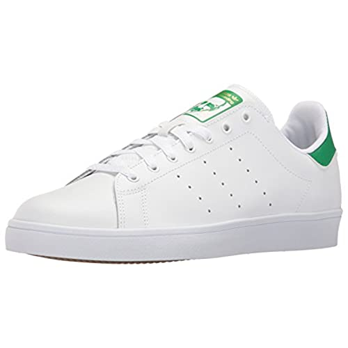 adidas Originals Men's Shoes | Stan Smith Vulc, White/White/Green, (12 M US)
