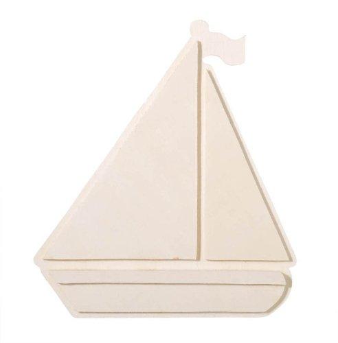 - Darice 9189-06 Chunky Layered Wood Cutout, Sailboat, 10mm