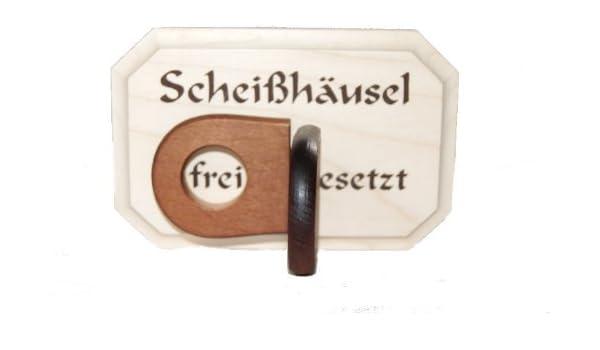 WC Inodoro WC scheiß IB Laursen Cartel häusel libre o ...